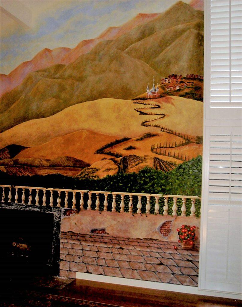 Italian Hillside with Balcony