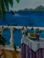 Tropical Bedroom Balcony