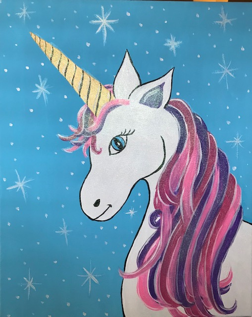 SPARKLES THE UNICORN (with magical Hologram Glitter paint!)