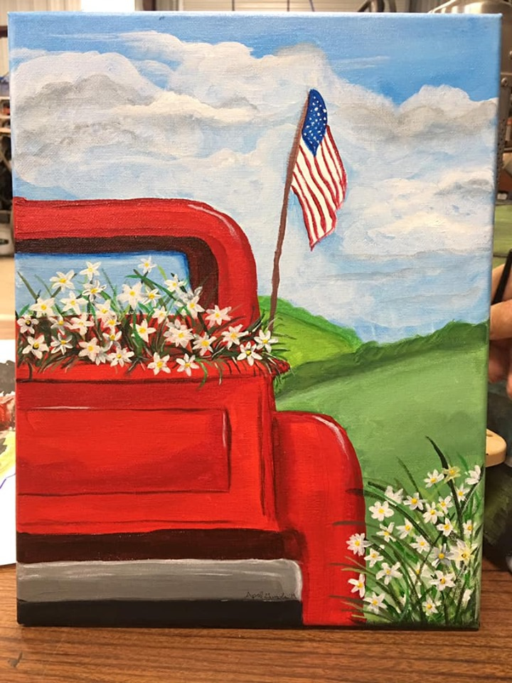COUNTRY TRUCK & FLOWERS